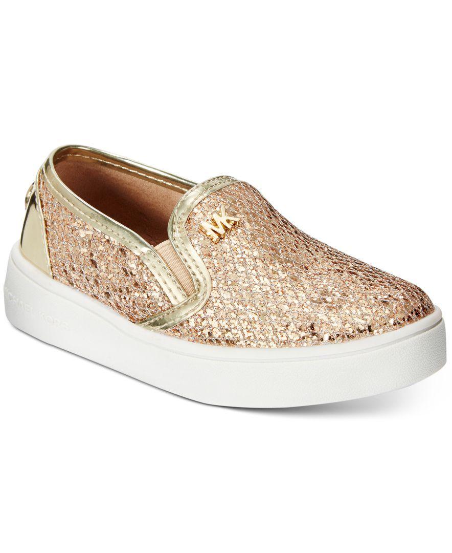 Michael Kors Little Girls Ivy Eileen Slip Sneakers