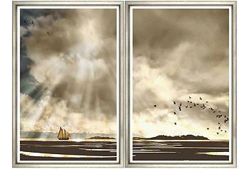 William Stafford ;Sunshine Clouds Diptych