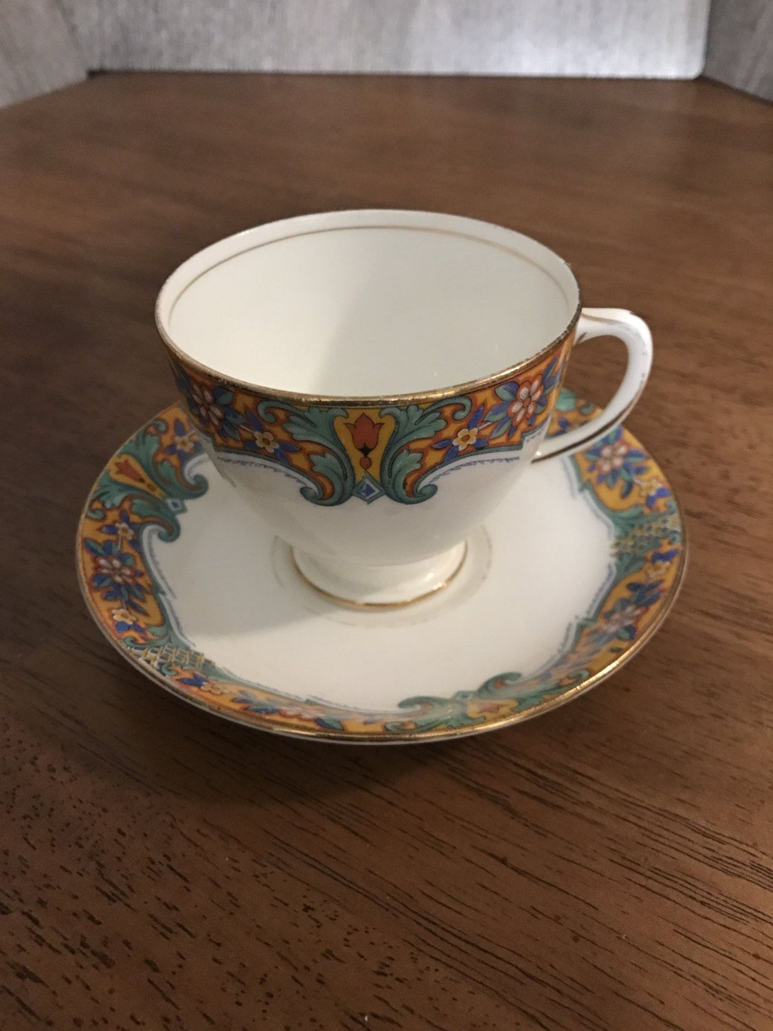 Sampson Smith Old Royal Bone China 2906 Tea Cup And Saucer By Ofyearspast On Etsy Tea Cups Tea Cups Vintage Tea