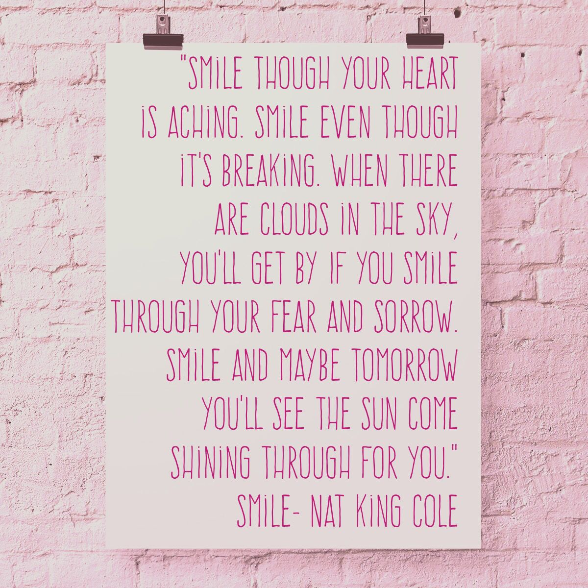Smile Though Your Heart Is Aching Smile Nat King Cole Smile Nat King Cole Smile Lyrics Nat King Cole