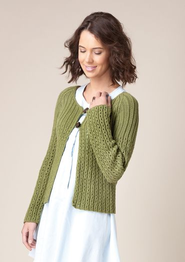 Swallowtail Scoop neck Cardigan Free Knitting Pattern | ladies knit ...