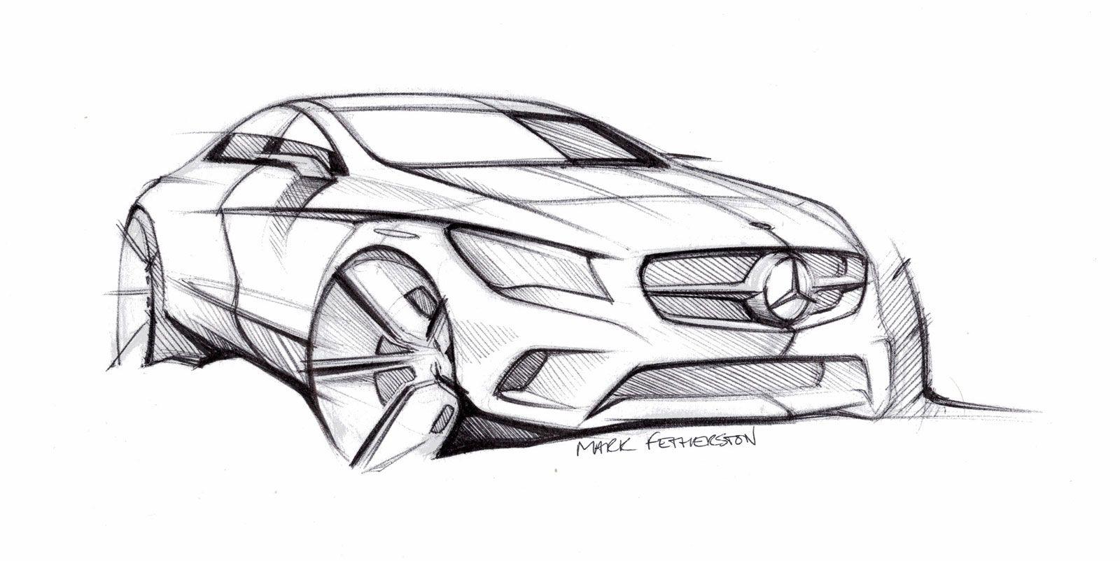 Auto Zeichnen Mercedes