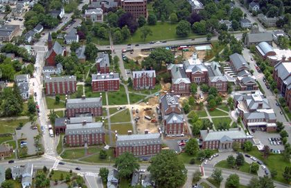 Phillips Exeter Academy Campus Map.Phillips Academy Exeter Nh Phillips Hall Aerial Photo Us