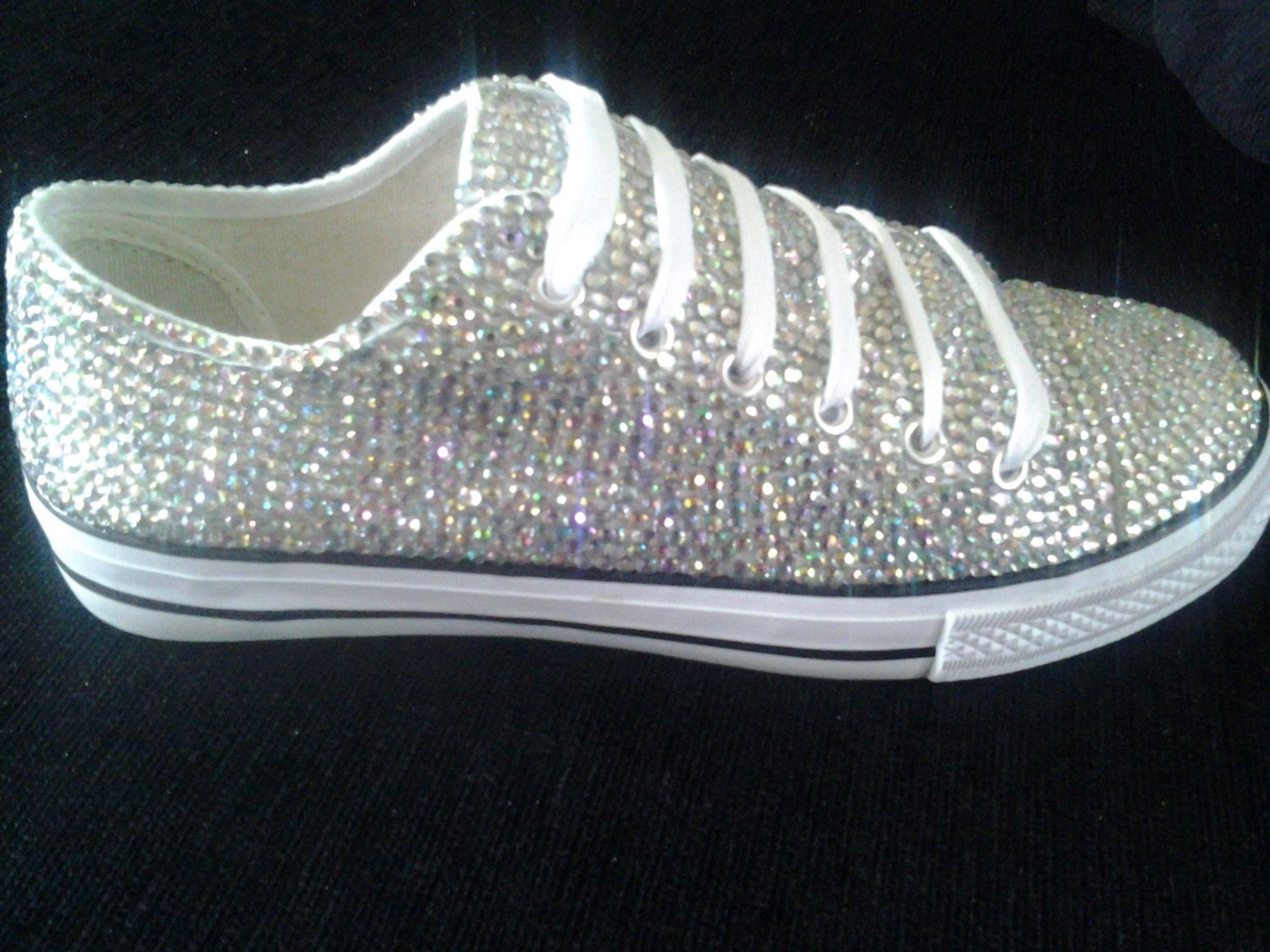 Crystal embellished pumps NOT converse vans. by