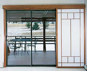 Another Sliding Shoji Design For Our Patio Door In Kitchen