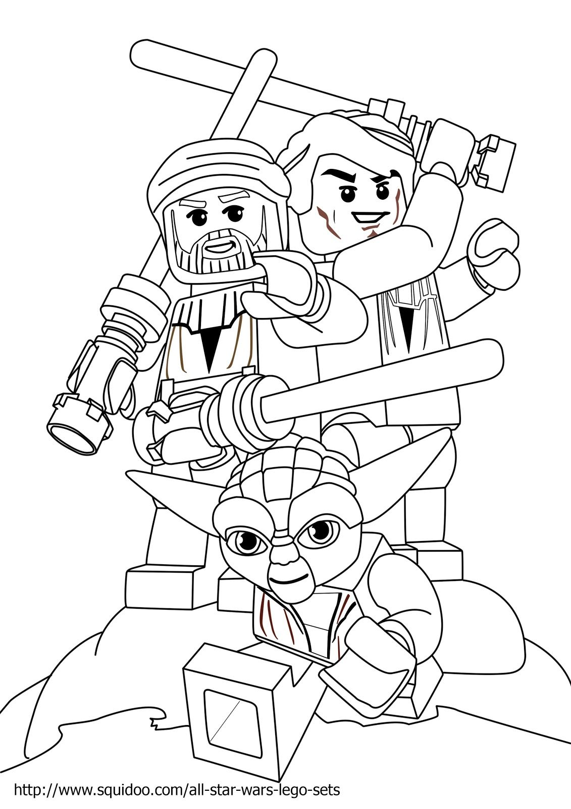 Lego Star Wars Yoda Coloring Pages Original size: 1131 x 1600 ...
