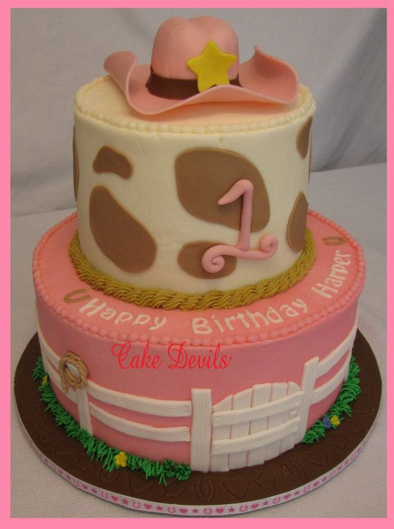 Cowgirl Hat Cake Topper Handmade Edible Fondant Cowboy Country Western Deco