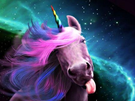 Unicorn Kiss Unicorn Tongue Blue Pink Funny Cute Animal