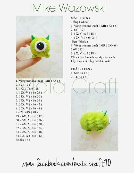 Tsum Tsum mike | crochet amigurumi | Pinterest | Amigurumi, Crochet ...