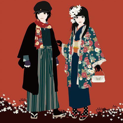 Character Design Kimono : By mari katogi character design