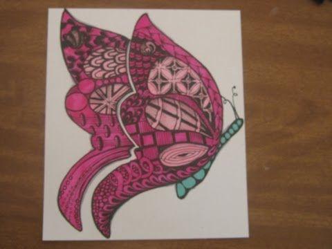 Butterfly Zentangle video