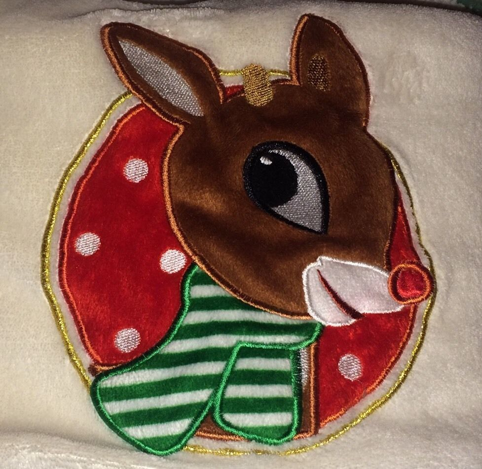 Rudolph Baby Christmas Holidays Blanket 30x40 New Without
