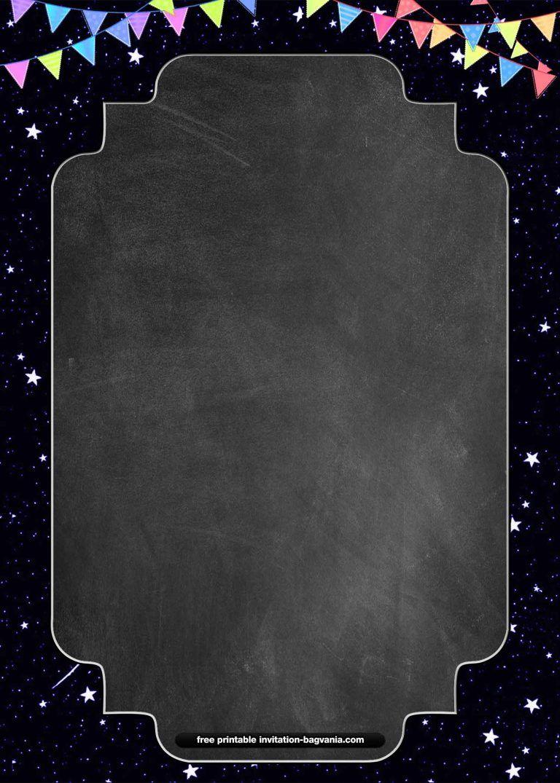 FREE Chalkboard style Invitation Templates  FREE Printabl