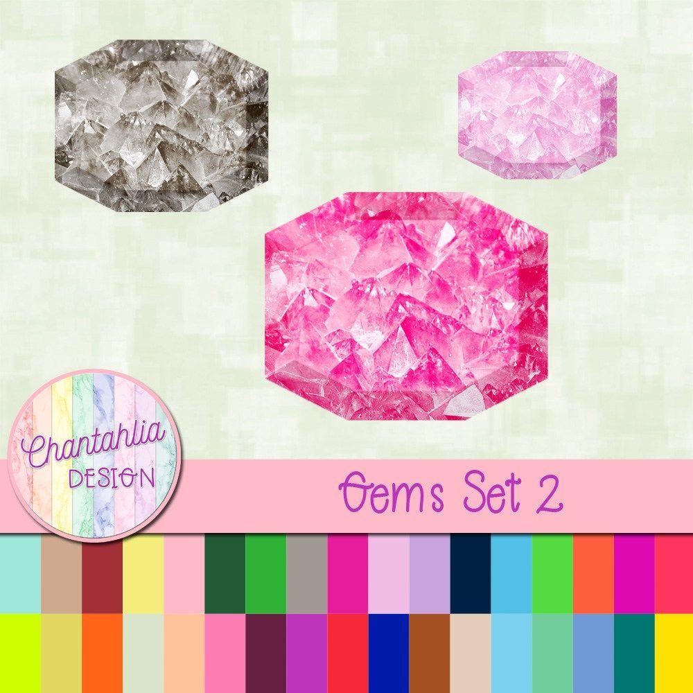 Free digital gem embellishments for your digital scrapbooking or