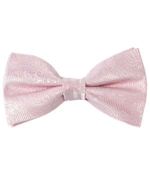 Blush Pink Twill Paisley Bow Tie Ties Bow Ties And Pocket Squares Pink Bow Tie Blush Pink Silk Bow Ties