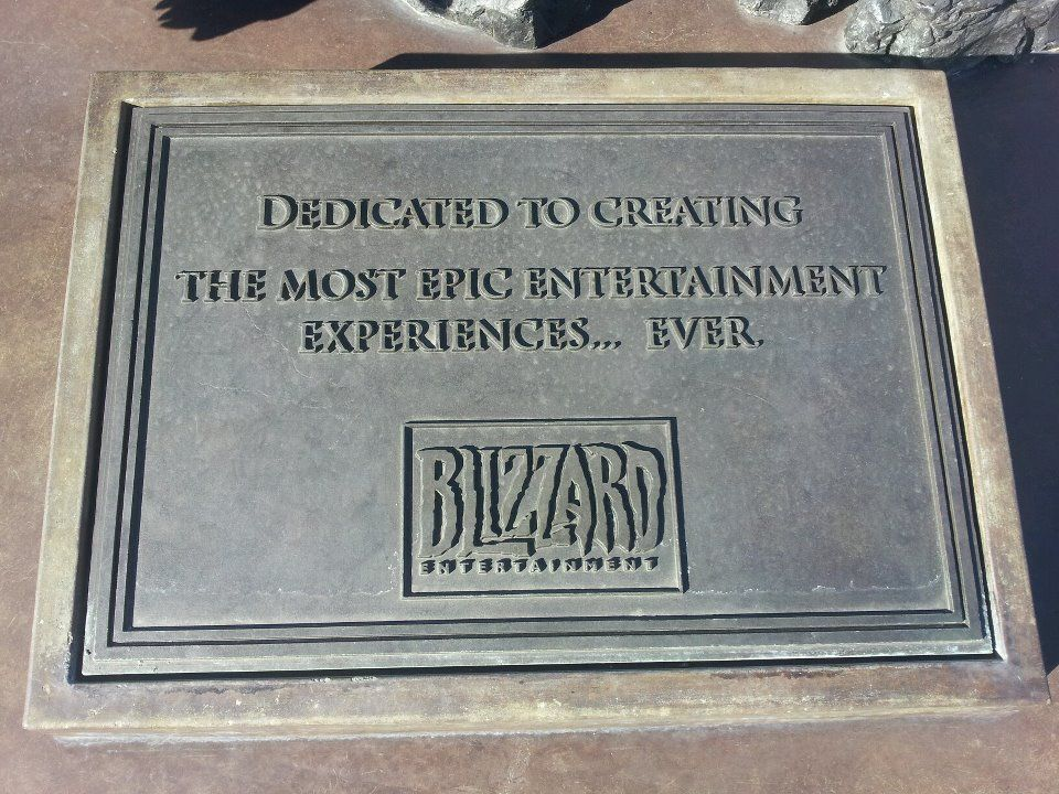 Blizz Plaque In Front Of The Orc And Worg Statue Blizzard