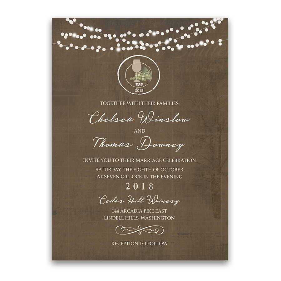 Rustic Vintage Winery Vineyard Wedding Invitations Your Just Will Not Be Complete