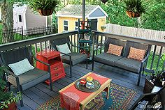 deck back patio before after decor, decks, outdoor furniture, outdoor living, patio