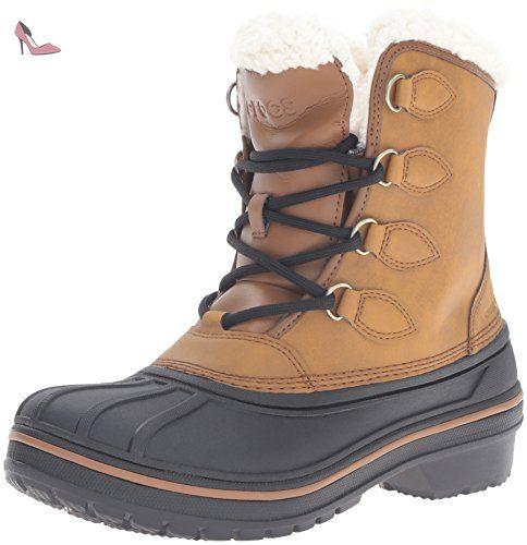 Crocs AllCast II Boot, Bottes Femme - Marron (Wheat 209), 36/37 EU