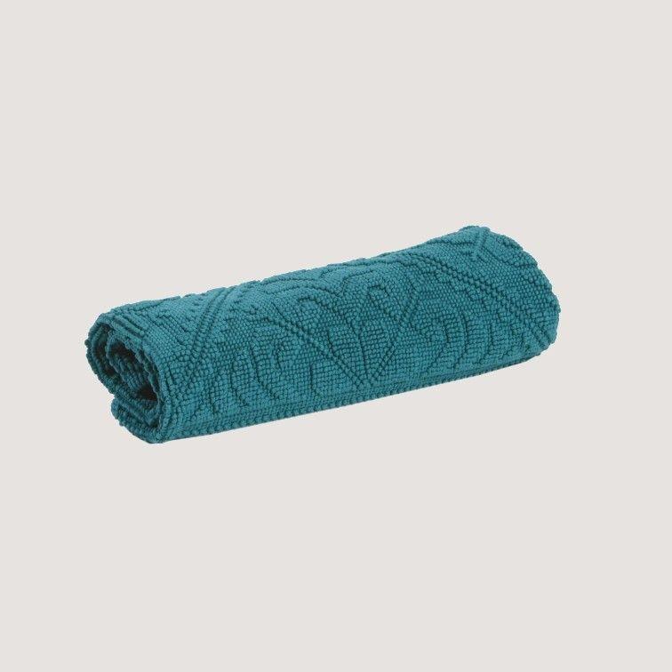 tapis bleu canard en eponge style