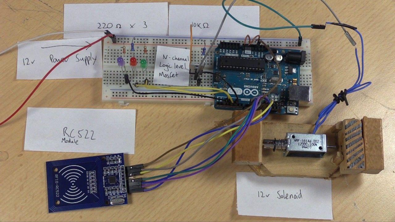 Arduino RFID Smart Lock | automatic home | Arduino, Cool