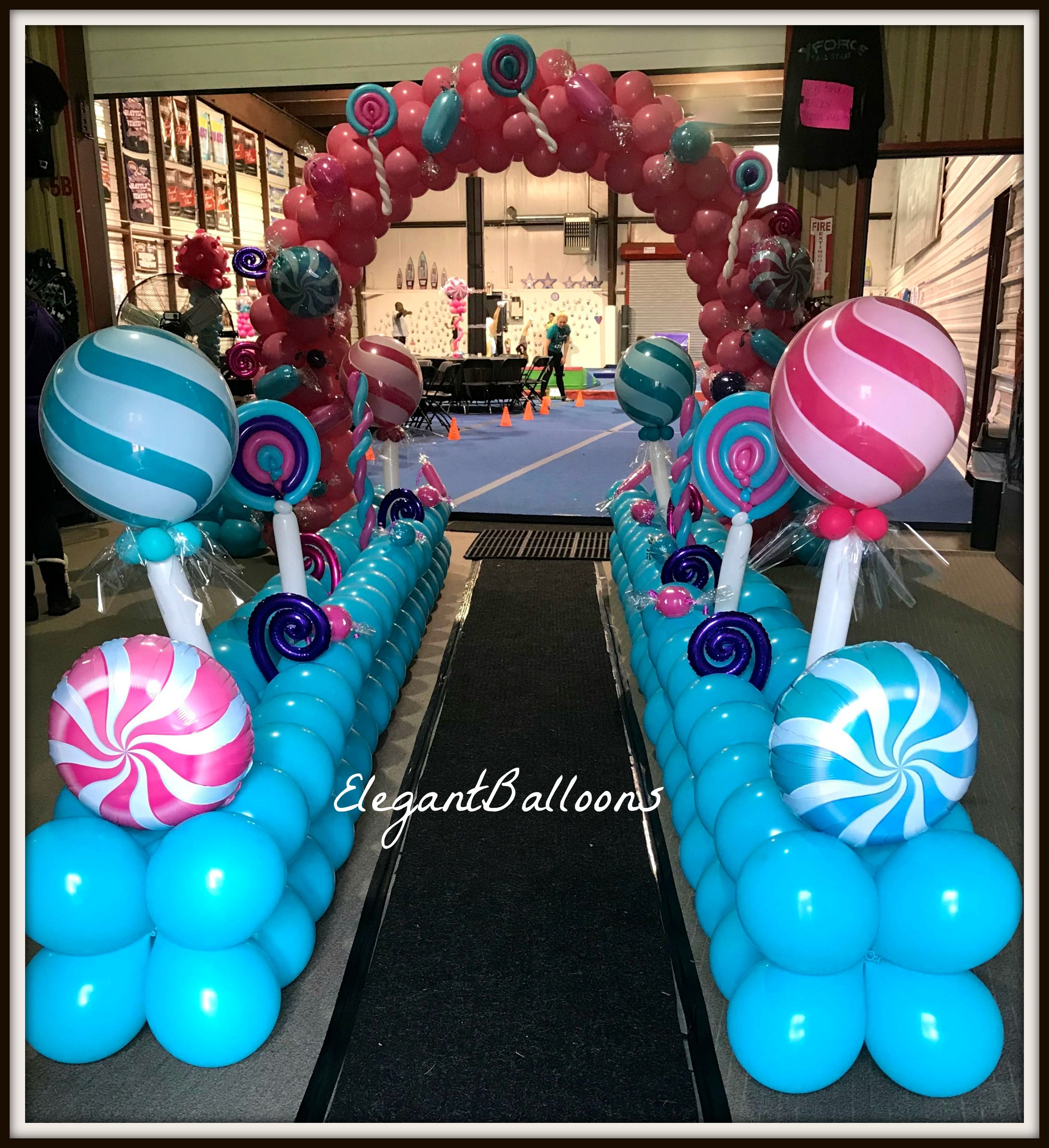 Candy Themed Party Ballooncandy Www Elegantballoons Com Candy