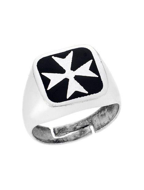 150ede4497 Ασημένιο Ανδρικό Δαχτυλίδι 925 με Σμάλτο Αναφορά 023067 Ένα όμορφο δαχτυλίδι  που μπορείτε να χαρίσετε σε