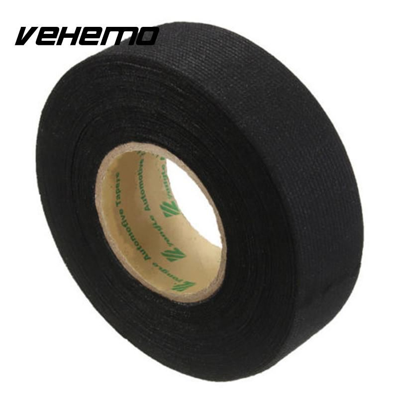 15m Car Vehicle Wiring Harness Sound Insulation Adhesive Felt Fleece Tape Auto Adhesive Cloth Fabric Tape Cable Looms Car Harness Fabric Tape Adhesive Tape