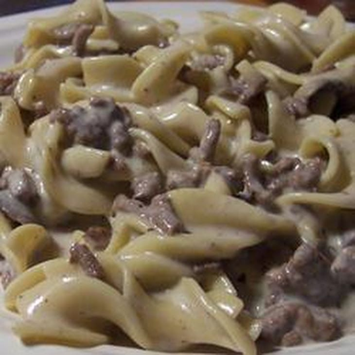 Simple Beef Stroganoff Recipe Main Dishes With Egg Noodles Ground Beef Condensed Cream Of Mushroom S Beef Dinner Beef Stroganoff Easy Dinner With Ground Beef