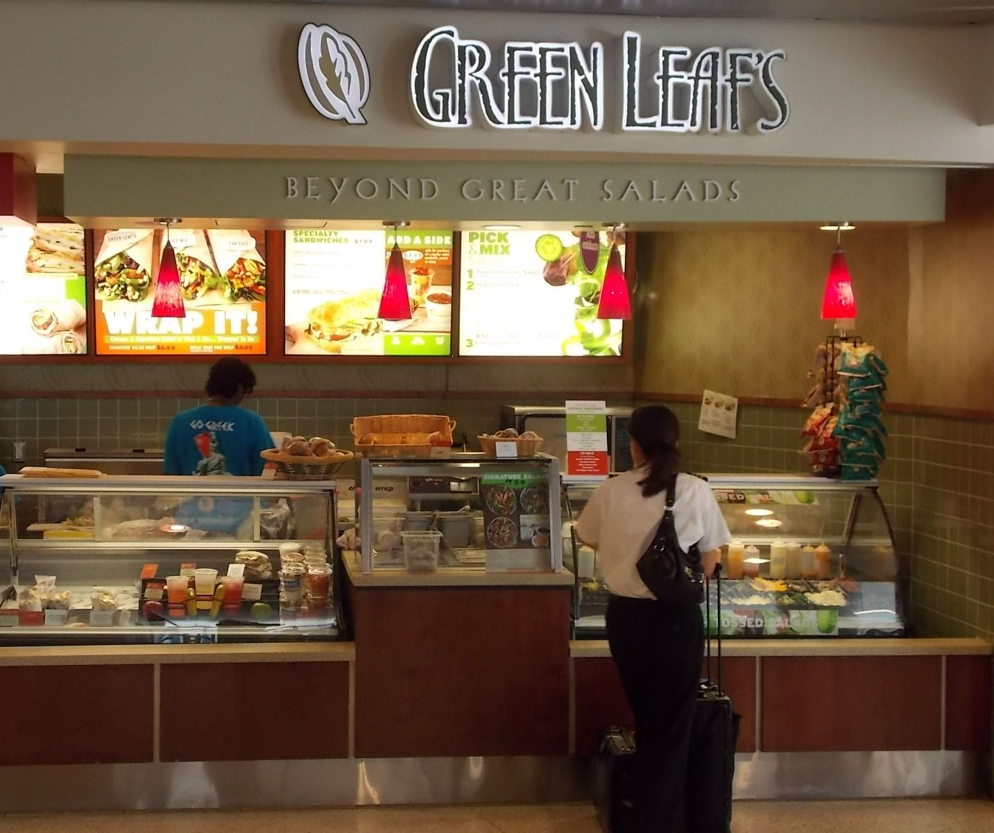 Green leafs beyond great salads in concourse c