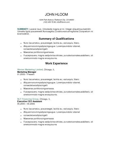 ATS Corporate Candidate Two-page example centered on the page - resume ats