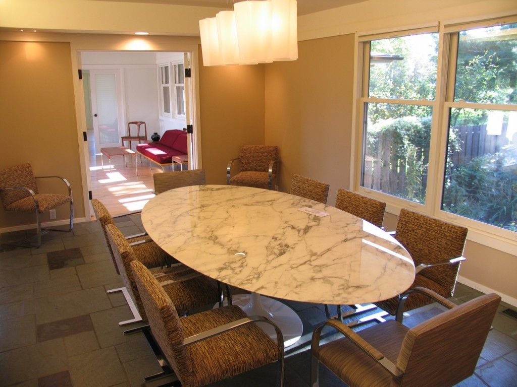"Granite Dining Room Furniture Unique Saarinen Marble Oval Dining Table 96""  Furniture  Pinterest Inspiration Design"