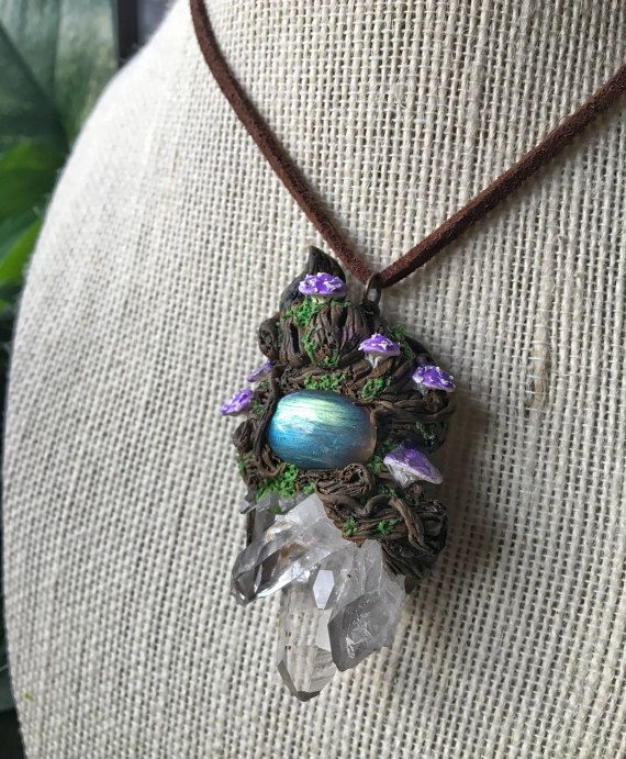 Forest Goddess Wand Pendant Necklace
