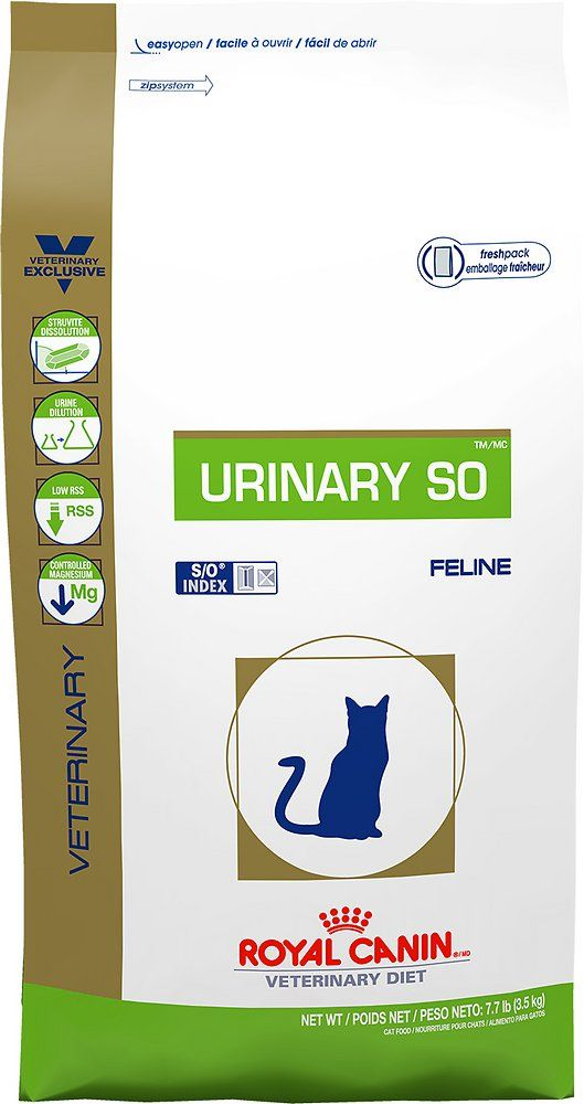 Royal Canin Veterinary Diet Urinary So Dry Cat Food 17 6 Lb Bag Chewy Com Dry Cat Food Best Cat Food Canned Cat Food