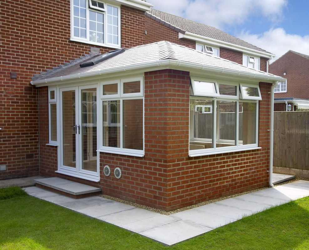 Tiled Conservatory Roofsconservatory Recycled Windows Attic Rooms Attic Spaces Furniture Design Des In 2020 Tiled Conservatory Roof Facade House Garden Room Extensions