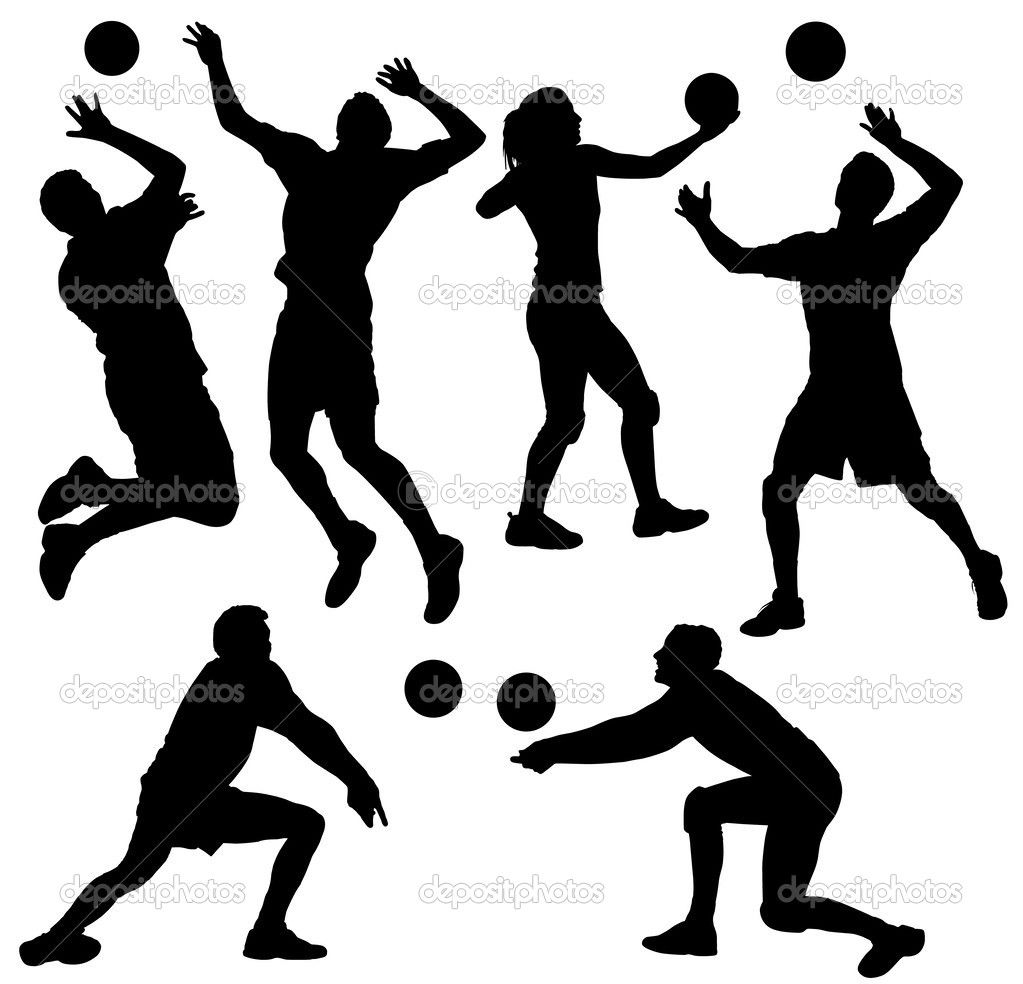 Volleyball Stock Vector 30225425 Volleyball Silhouette Volleyball Clipart Volleyball