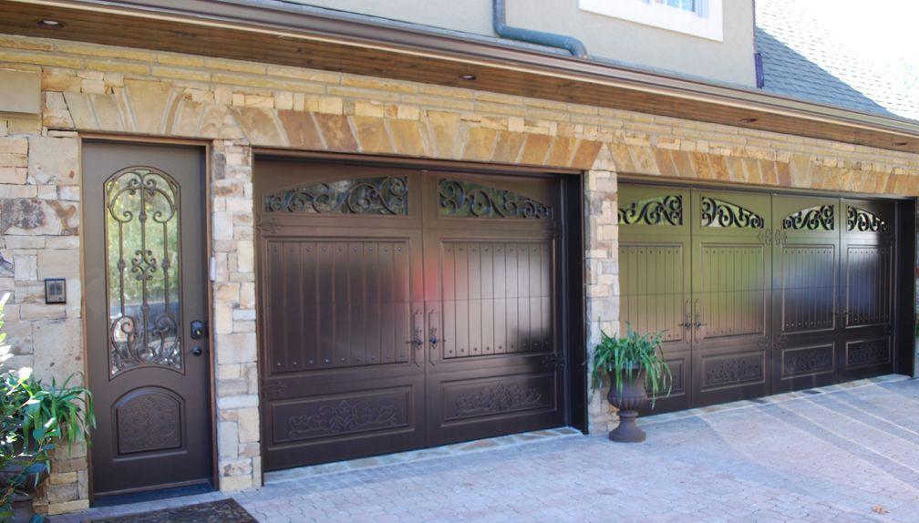 Check Out These Matching Weatherproof Bronze Garage Doors And Side Entry  Door! Www.masterpiecedoors