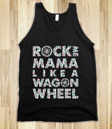 Wagon Wheel Tank Top Disco Edition