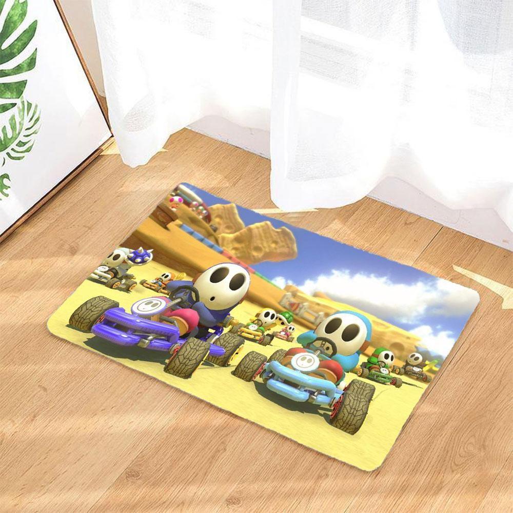 Mario Kart 8 Deluxe Fussmatte Rutschfeste Boden Matte Badezimmer Teppich Gelb With Images Shopping