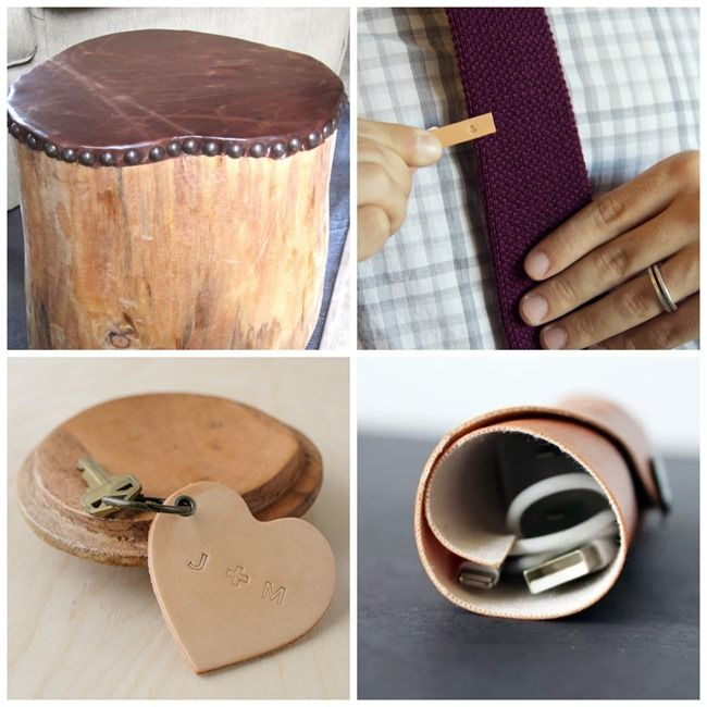 Handmade Baskets Tutorial : Leather handmade gifts for men diy tutorials on
