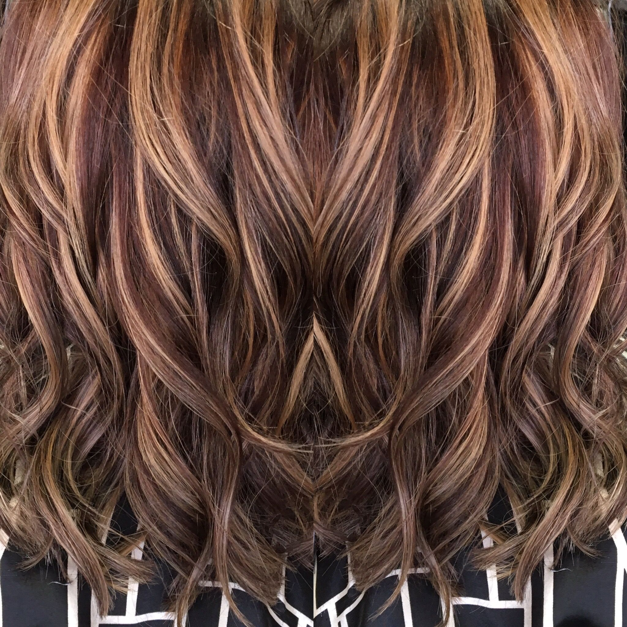 Red brown hair with caramel highlights highlights pinterest