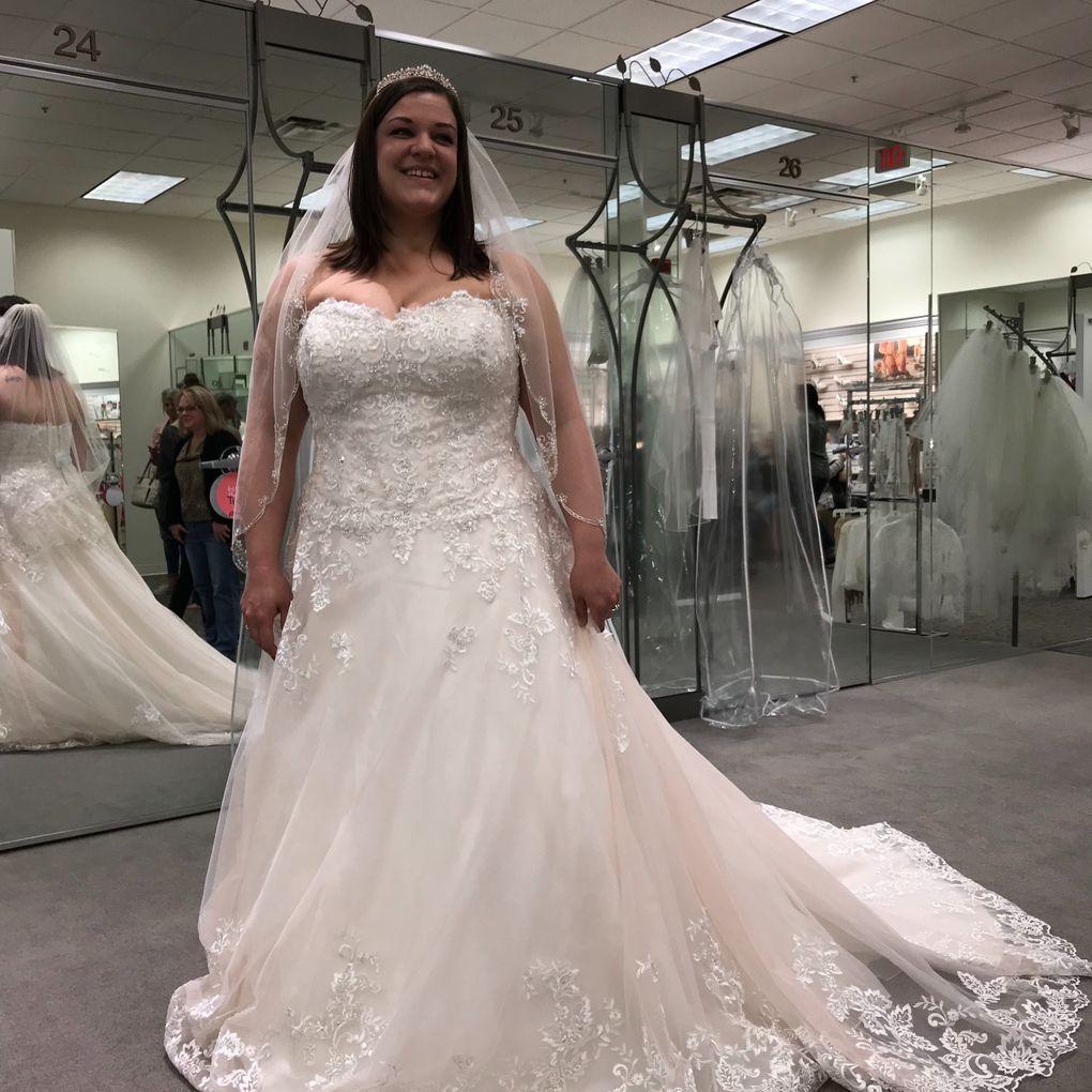 Cheap wedding dresses plus size  Beaded Lace and Tulle Plus Size Wedding Dress  Davidus Bridal