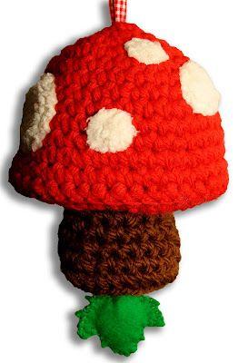 huisvolkleur: Muziekdoosje paddenstoel gehaakt