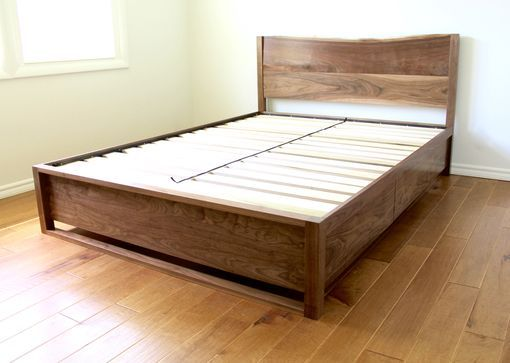 Custom Made Custom Handcrafted Solid Walnut Queen Bed | Mike & Betsy ...