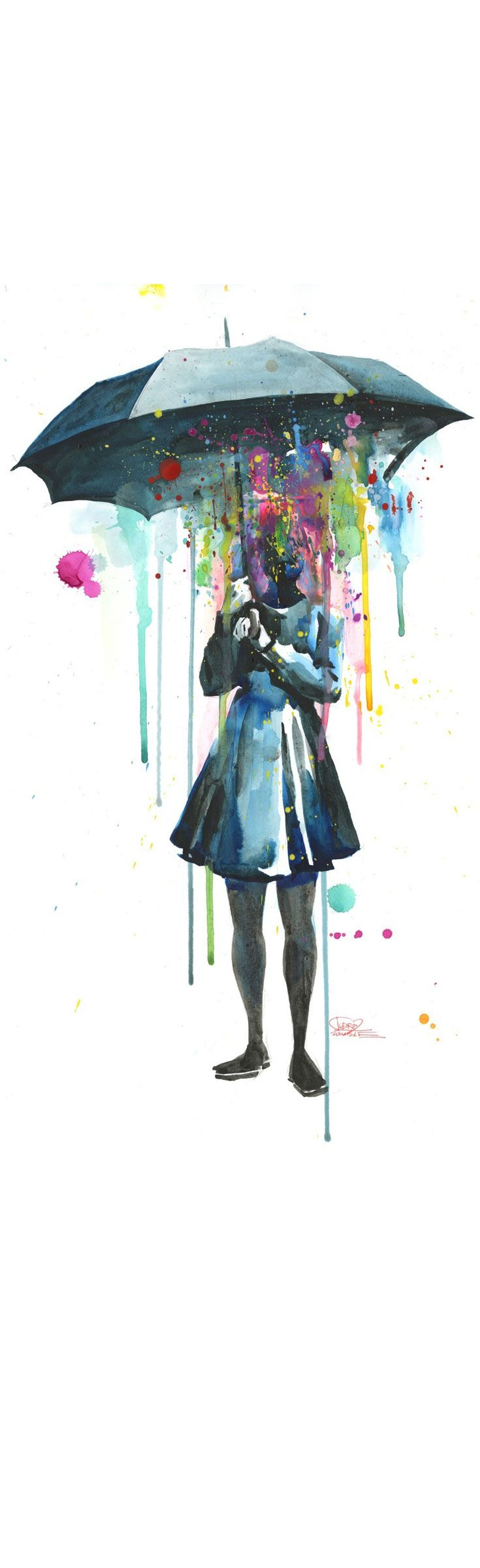 'Rainy' by Lora Zombie - Available in a variety of fine art print formats.  For more info and to purchase, visit Eyes On Walls:  http://www.eyesonwalls.com/collections/all/rainy?utm_source=pinterest&utm_medium=ads&utm_content=Rainy&utm_campaign=Urban%20Art