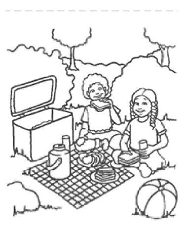 Preschool Picnic Coloring Pages