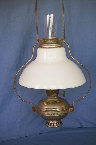 Aladdin Model 6 Hanging Kerosene Lamp Hanging Frame 215 Glass Shade 1908 Chimney Lamp Kerosene Lamp Hanging Frames