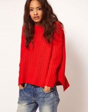 ASOS.co.uk Boxy Jumper In Textured Stitch