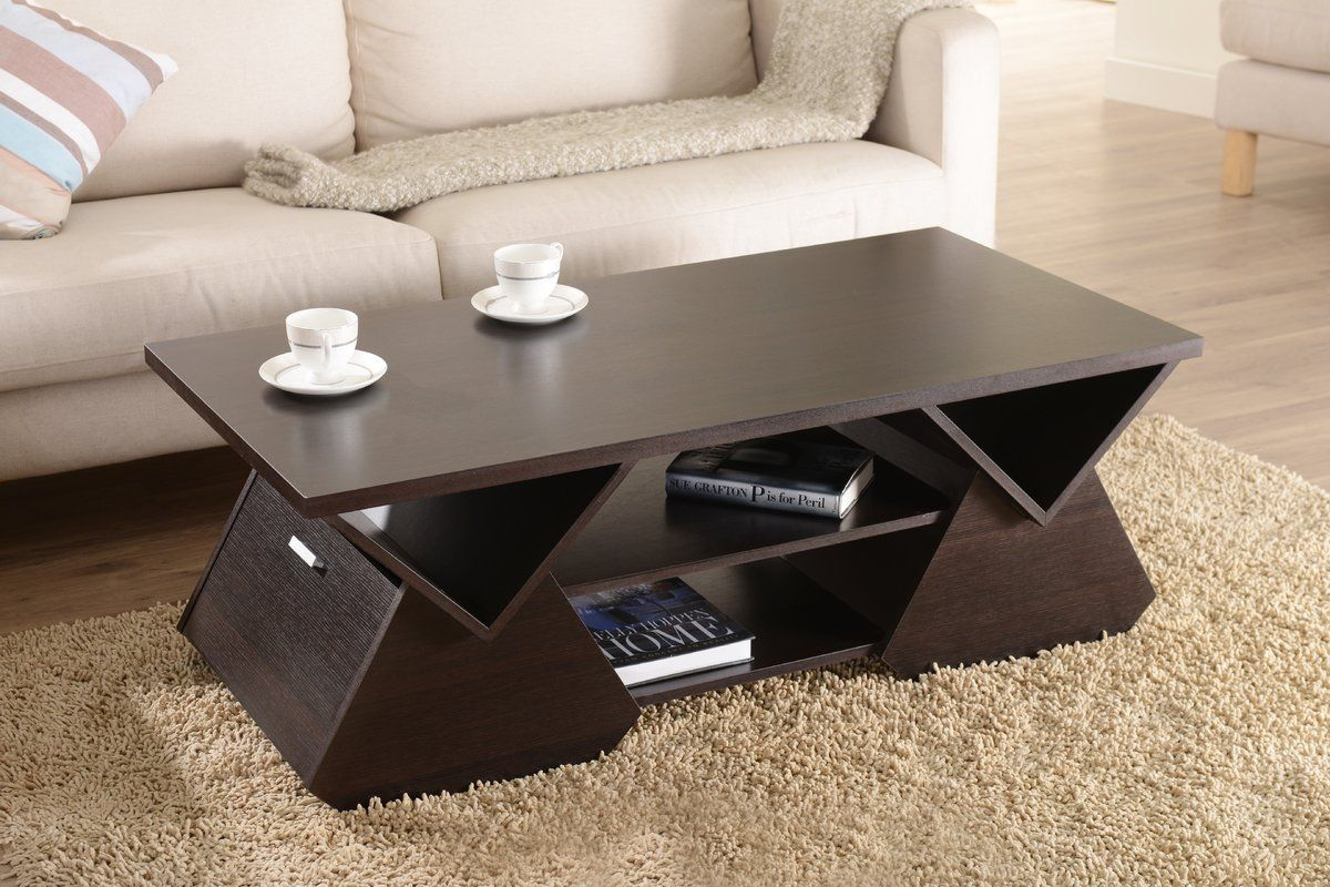 Trestle Coffee Table With Storage Coffee Table Geometric Coffee Table Coffee Table With Storage [ 800 x 1200 Pixel ]
