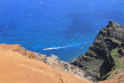 Pacific blue ... stretched out several thousand feet away.